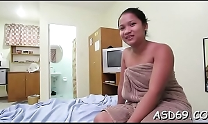 Glamorous asian grumble likes to get poked unfathomable added to hard