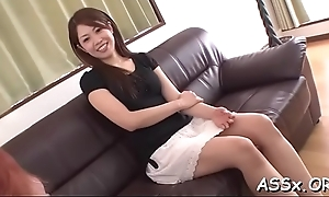 Coarse anal riding from cute get one's bearings